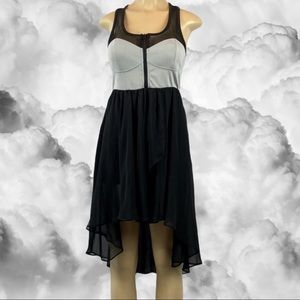 Hot & Delicious Bustier Sheer Hi-Lo Dress